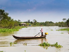 (Ángeles A.) Tags: asia asian beautiful boat colorful delta east floating green houses indochina mekong nature people river ship south travel tropical vietnam vietnamese village water