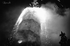 El Fadri en Fiestas (Marco . Vite) Tags: castellón pregonmagdalena pyrotechnics festesmagdalena fiestasdelamagdalena fadri belltower cohetes rockets fujifilmx100