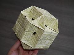 Rhombicuboctahedron (ISO_rigami) Tags: minecraft modular origami 3d a4 cube sid polyhedron rhombicuboctahedron eckhardhennig rectangular sidrco