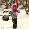 The Chicago Blizzard (Lynn English) Tags: violet snowday fun outside