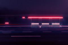 A late night cruise through the purple highway (Tom Rop 2) Tags: purple dream highway night light nuit lumière liège luik lampe luttich pauselongue pluie pause longue belgique belgium black rain fog brouillard car voiture exposure rue street ville city urbain urban poselongue sony rx100