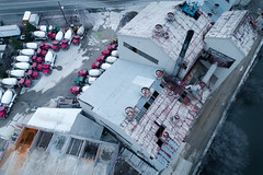 concrete jungle (sephrocker) Tags: drone phantom4advanced dji concrete factory industrial trucks waste building gray magenta