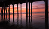 Huntington Beach Pier (meeyak) Tags: dark shadows night nightphotography sunset orangecounty hb hbpier huntingtonbeach california usa reflection clouds colors meeyak nikon d5500 1635mm lens ocean sea water pier seascape landscape ndfilter travel vacation outdoors adventure