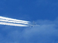 AF66 To Los Angeles (Gary Chatterton 4 million Views) Tags: airfrance airbus a380 pariscdg losangeles airliner aircraft jetliner plane transatlantic commercialairline contrails vapour highinthesky europeanunion canonpowershot flickr photography explore amateur aviation unitedstates