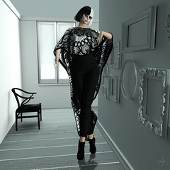 Overblown (Algezares (III)) Tags: secondlife lelutka maitreya pashmina lace bw ghee fashion outfit