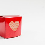 Red square gift box with a heart thumbnail