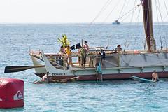 Hokule'a (RicoLeffanta) Tags: hokulea canoe voyaging hawaii makaha oahu hull double cat catamaran crew ocean pacific hawaiian rico leffanta