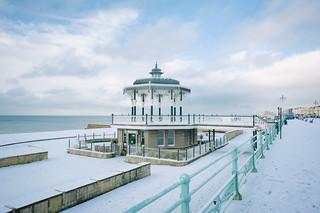 snow on Brighton seafront