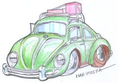 volkswagen en lapices de colores (ivanutrera) Tags: volkswagen coche draw dibujo drawing dibujoenlapicesdecolores drawingcar sketch sketching auto automóvil