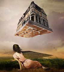 Digress (jaci XIII) Tags: casa mulher pessoa pintura surrealismo house woman person painting surrealism
