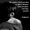 quote-liveintentionally-the-toughest-battle-you-have (pdstein007) Tags: quote inspiration inspirationalquote carpediem liveintentionally