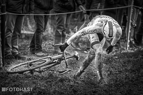 David van der Poel during his cyclocross in Surhuisterveen