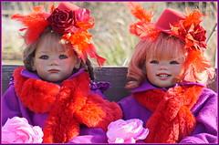 Milina und Sanrike ... (Kindergartenkinder) Tags: kindergartenkinder annette himstedt dolls gruga grugapark essen milina sanrike
