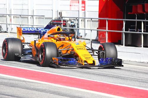 Stoffel Vandoorne during Formula One Winter Testing 2018