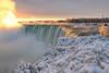 Niagara Falls Ontario (B.E.K. Photography) Tags: niagarafalls horseshoe sunrise steam mist clouds waterfall ice snow winter longexposure golden light frost outdoor landscape river niagara ontario canada nikond850 nikon2470f28