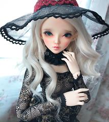 Juliette. (Dancing*Butterfly) Tags: abjd vampire fairyland mnf viridianhouse msd elf bjd makoeyes doll chloe minifee
