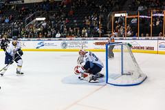 "Kansas City Mavericks vs. Toledo Walleye, January 21, 2018, Silverstein Eye Centers Arena, Independence, Missouri.  Photo: © John Howe / Howe Creative Photography, all rights reserved 2018. • <a style=""font-size:0.8em;"" href=""http://www.flickr.com/photos/134016632@N02/39839875461/"" target=""_blank"">View on Flickr</a>"