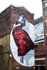 Manchester Woman in a dress (PDKImages) Tags: manchesterstreetart street art manchester streets streetart urban posterart pasteup streetscenes