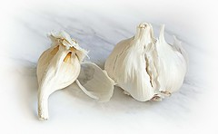 Garlic Bulb (Through Serena's Lens) Tags: highkey lifeisarainbow blanco white aromatic condiment food fresh flavor cloves garlicbulb closeup stilllife tabletop