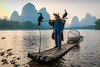 Li River Fisherman (davecurry8) Tags: xingping china liriver fisherman sunset cormorant boat river birds