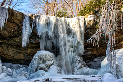 Cucumber from below (dxd379) Tags: nikon d7100 ohiopyle state park frozen stream ice winter snow cold bluesky westernpa pennsylvania fayette county laurel highlands