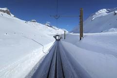 MGB - Oberalp Pass (Kecko) Tags: 2018 kecko switzerland swiss schweiz suisse svizzera innerschweiz zentralschweiz uri oberalp pass oberalppass matterhorngotthardbahn railway railroad mgb eisenbahn bahn rack zahnstange gleis track schnee snow winter berge mountain swissphoto geotagged geo:lat=46644930 geo:lon=8624440