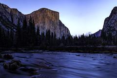 Yosemite Valley Sunset (Explored) (punahou77) Tags: yosemite yosemitenationalpark yosemitevalley mountain mercedriver mountains reflection river roadtrip rocks elcapitan valley stevejordan sierras sierranevada california nature nationalpark nikond500 night nikon punahou77 park pines