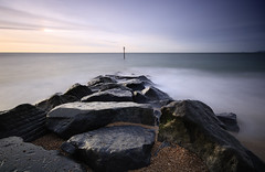 Finale (david.hogan7) Tags: seascape first light dawn slow water sea coast shore wide angle long exposure sigma 1020 canon eos 750d fine art moody rocks sky beach marine hayling island south