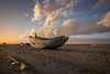 High and dry (James Waghorn) Tags: sigma1020f456 goldenhour beach nikon d7100 pebbles wreck winter kent dungeness clouds england decay derelict