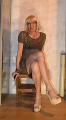 DSC_0047r (magda-liebe) Tags: travesti crossdresser french minidress highheels platform anklet chainedecheville stockings