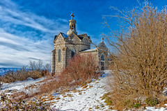 Curienne -Savoie - Chapelle Mont Saint Michel (895m) (gerardcarron) Tags: 1022 arbres automne autumn canon80d church curienne cloud eglise landscape massifbauges nature nuage neige nuages paysage savoie snow
