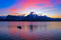 Twilight (sylviafurrer) Tags: stockhorn twilight abendstimmung abenddämmerung abendlicht thunersee lakethun see lake landschaft landscape rot blue switzerland