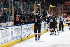 """Kansas City Mavericks vs. Ft. Wayne Komets, March 2, 2018, Silverstein Eye Centers Arena, Independence, Missouri.  Photo: © John Howe / Howe Creative Photography, all rights reserved 2018 • <a style=""""font-size:0.8em;"""" href=""""http://www.flickr.com/photos/134016632@N02/40598289432/"""" target=""""_blank"""">View on Flickr</a>"""