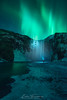Lightning skogafoss (Iván F.) Tags: northernlight iceland auroraborealis landscape sonya7 laowa15mmf2 longexposure winter cold waterfall light green explore explorer exploration travel skogafoss nature river night nightscape