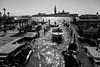 Traffic (Tom Levold (www.levold.de/photosphere)) Tags: venice xpro2 xf18135mm venedig fuji venezia wasser gondeln bw water gondolas cityscape sw
