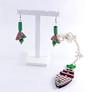 parure poissons verts (dorémifasolafimo) Tags: bijoux polymère bracelet bague boucles doreilles collier fantaisie jewerly polymer clay