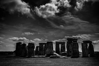 Stonehenge #1 - black & white edit