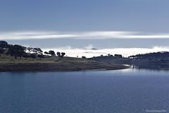 Niebla en el horizonte - Fog on the horizon (Explore) (ricardocarmonafdez) Tags: paisaje landscape cielo sky niebla fog mist agua water arboles trees reflejos reflections 60d 1785isusm canon naturaleza nature
