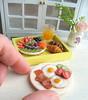 Ideal breakfast (luckyjuliett) Tags: miniaturefood barbiefood barbiedollhouseminiaturefood playscale miniature polymer clay