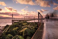 Windy Walk (40/365) (Rachael Webster UK) Tags: project365 365project 365challenge sunset westkirby marinelake longexposure longexposurephotography walking walk beach seafront fltofb