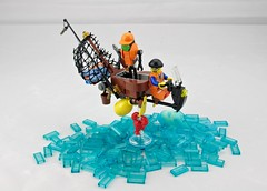 Prelude: Sea Snipper Attacks! (Deltassius) Tags: lego speeder bike moc flying motorcycle fishing ai
