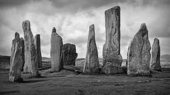 The time machine.. (Harleynik Rides Again.) Tags: thetimemachine outerhebrides isleoflewis callanish stones standing monochrome bw harleynikridesagain