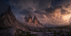 Crazy Sky (Carlos F. Turienzo) Tags: dolomites italy alps mountain panorama panoramic tre cime dolomiti mountains landscape nature