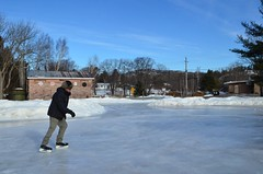 Skating in My Drive, Whitefish Falls 2018 (Go_OffStation) Tags: whitefishfalls ontario winter skating driveway drive parking parkinglot ice rink icerink