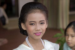 Portrait of a Bridesmaid (ulli_p) Tags: asia artofimages bridesmaid colours canon750d flickraward faces girl isan people ruralthailand southeastasia thailand
