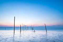 Siberian Chill! (karindebruin) Tags: thenetherlands nederland zuidholland voorneputten hellevoetsluis fishingnets visnetten beach strand sunset zonsondergang water lowtide laagwater cold koud