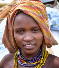 Dassanech Girl (Rod Waddington) Tags: africa african afrique afrika äthiopien ethiopia ethiopian ethnic etiopia ethnicity ethiopie etiopian omovalley omo outdoor omoriver omorate village dassanech traditional tribe tribal portrait people girl child culture cultural beads scarf sundaylights