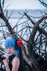 Remilia Scarlet (Forbidden Garden) (bdrc) Tags: 85mm apsc alpha alphauniverse asdgraphy banting beach cosplay dead evening f18 female forbidden forest girl gothic kelanang klang lady malaysia pantai people portrait prime project remilia sand scarlet sea sel85f18 single solo sony sonyalpha sonyimages sunset touhou tree vampire wood flash strobe godox ad600 reflector