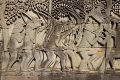 Bayon bas-relief II (daniel_james) Tags: 2018 canon6d canon1635mm cambodia kambodscha temples angkor bayon ruins grasshopperadventures basrelief southeastasia khmer