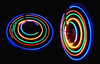 turning wheels (HansHolt) Tags: wheels turning lightpainting bicycle fingerlights led vingerlampjes fiets wheel wiel rotation rotatie moving circle round curve multicolor abstract blackbackground olympusmju9010 olympusstylus9010